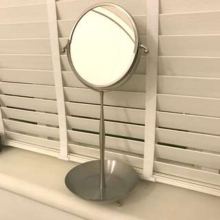 IKEA table mirror with magnifying side