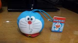 多啦A夢 Doraemon 豆袋公仔頭 吊飾 7x6cm