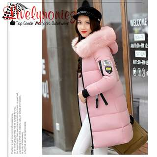 Jaket Tebal - High Quality Fur Hooded Winter Jacket