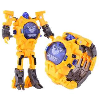 Transformation Electronic Wristwatch Robot Toy Kids Watch / Sports Waterproof Digital Children