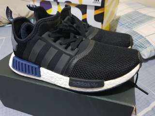 Adidas NMD R1 Black/Blue Size 7.5 US Mens Mesh (Used) Authentic