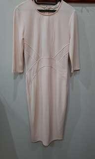 misselfridge soft peach dress