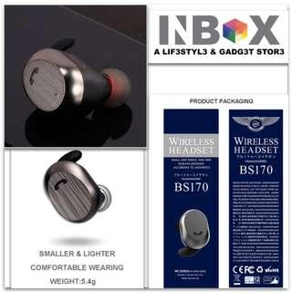 🚚 WK SIngle side BS 170 Bluetooth Wirelss Earphone Earpirece