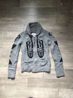 TNA Knit Wool Zip Sweater