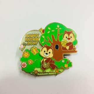 美國迪士尼 Disney Chip N Dale Easter 鋼牙與大鼻 復活節 限量 LE 襟章 徽章 Pin
