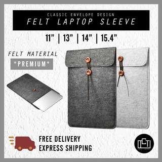 🚚 🔅cT🔅 ENVELOPE Felt laptop sleeve for all laptops laptop bag casing case strap