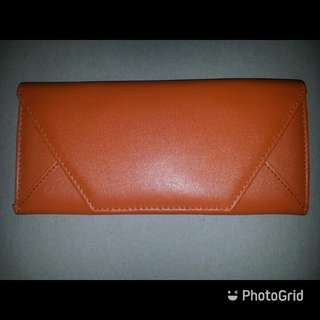 Orange Color Envelope Wallet