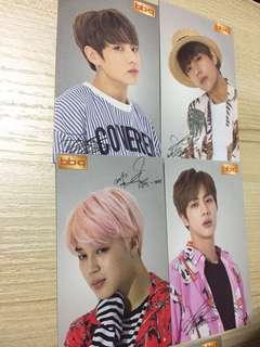 BTS BBQ photocards