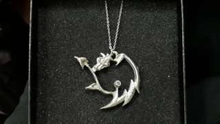 Pewter Dragon Pendant Necklace