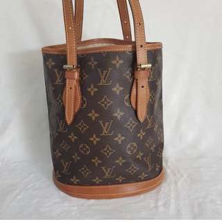 ON SALE!!! AUTHENTIC LOUIS VUITTON BUCKET PM