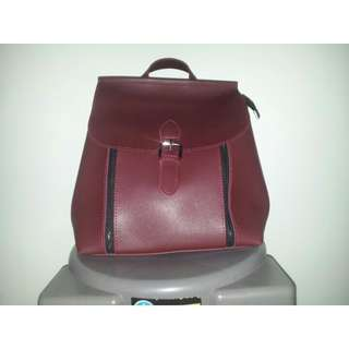 2-Way Maroon Color Bag (Backpack/Sling Bag)