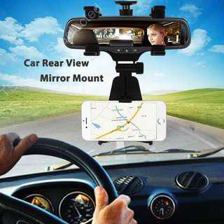 汽車 後視鏡 手機 架 車用 GPS 導航 電影 電視 行車記錄器 影音播放器 支架 adjustable car rearview mirror phone mount bracket holder stand cradle