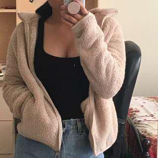 Uniqlo fleece zip up ( like teddy bear jacket )