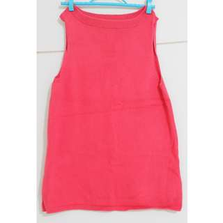 Knitted long sleeveless top