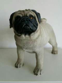 Pug Polyresin Dog Figurine