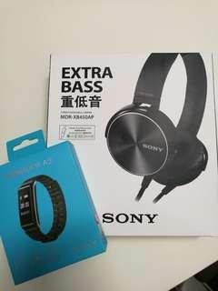 Huawei Honor A2 band + Headphone