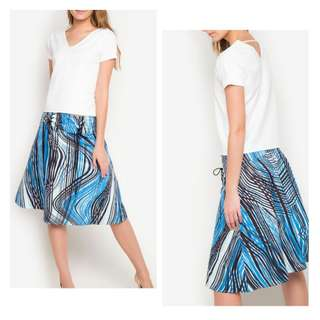 Plains and Prints Top and Skirt