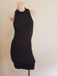 Kookai sleek fitted black dress in size 36/8