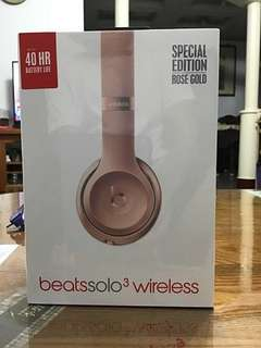 🚚 Beats solo 3 wireless 玫瑰金