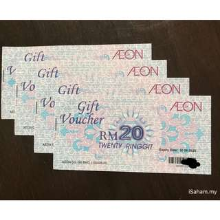RM92 for RM100 Aeon Voucher