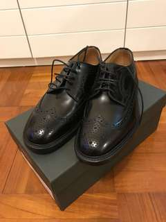 Loake black leather shoes