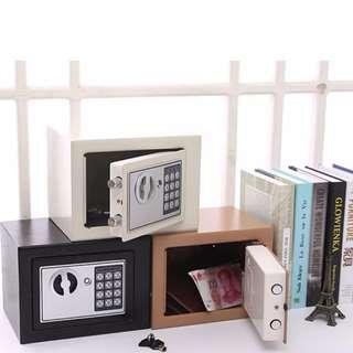 全鋼家用電子密碼保險箱 ( 可入牆 家用夾萬 儲物 安全 保險櫃 黑色 )包順豐站郵費 Steel safe box