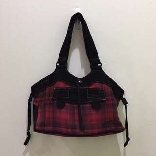 [ORIGINAL] Vans Red Plaid Handbag