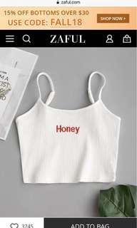 Zaful honey tank top