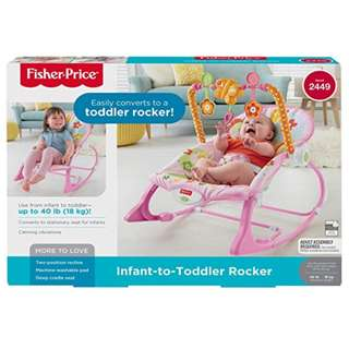 BNIB: Fisher Price Infant-to-Toddler Rocker, Bunny