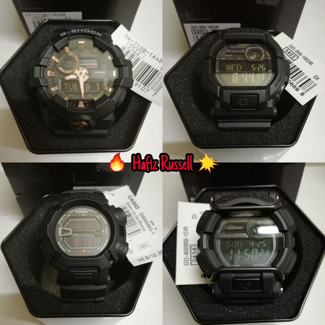 Hot Model G Shock Original For Sale Mens Fashion Watches Casio Gd 400mb 1dr Photo