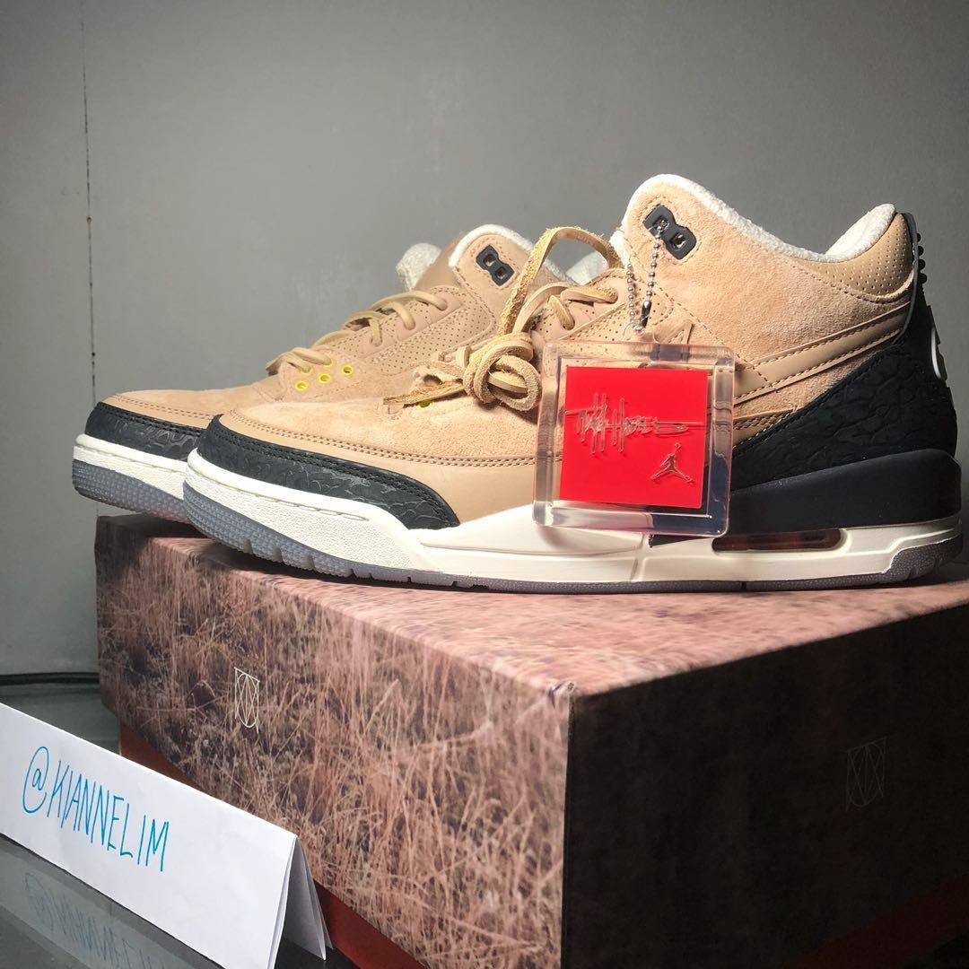 reputable site 7d8bb 19aad Air Jordan 3 JTH Bio Beige, Men s Fashion, Footwear, Others on Carousell