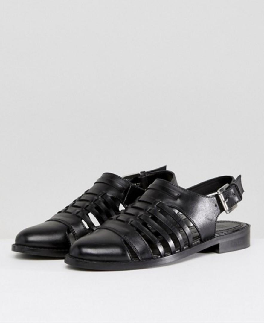 f48875a407ef ASOS Marylebone woven flat shoes