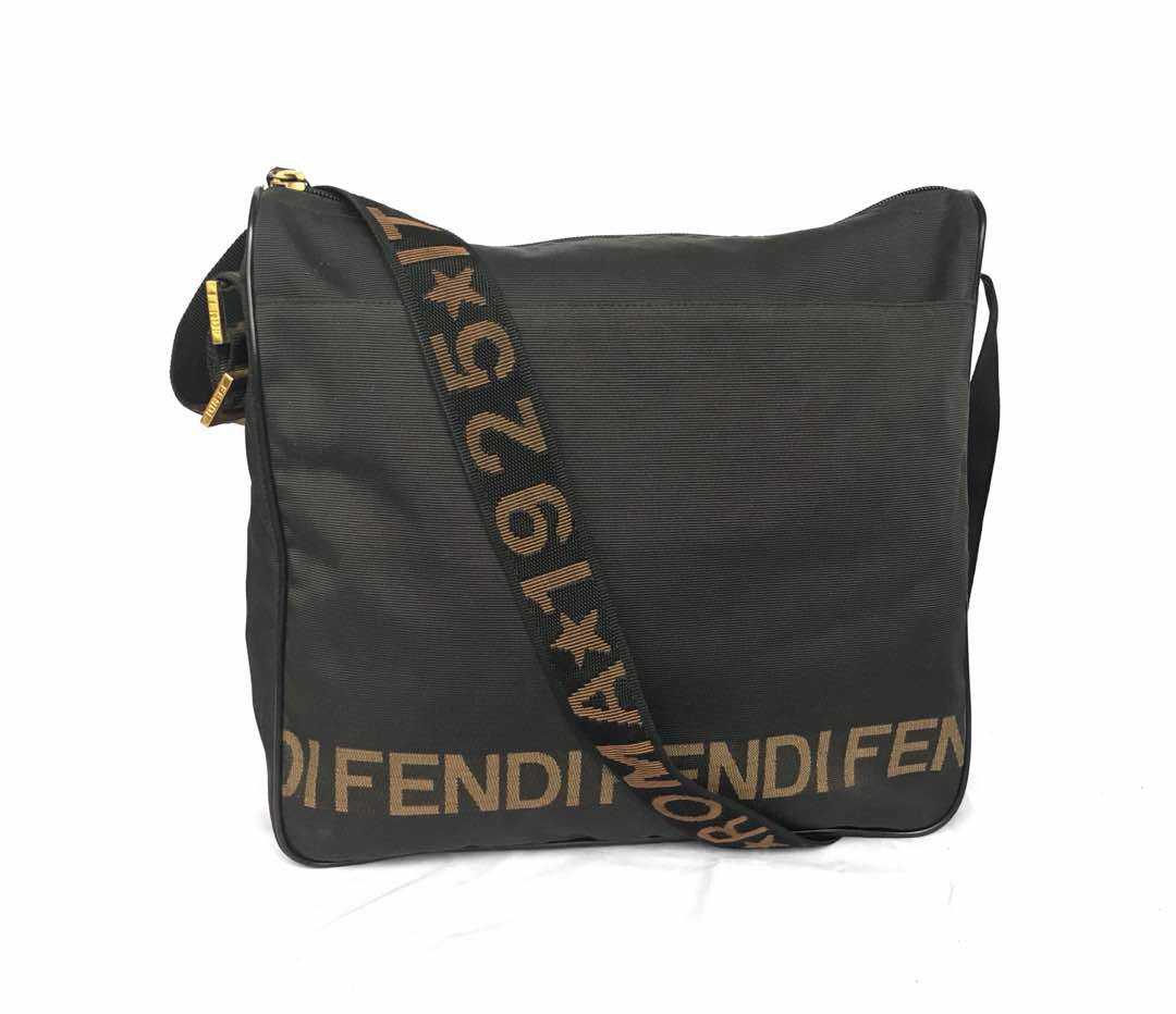 6d9bf84ece85 Authentic Fendi Roma Shoulder Sling Bag