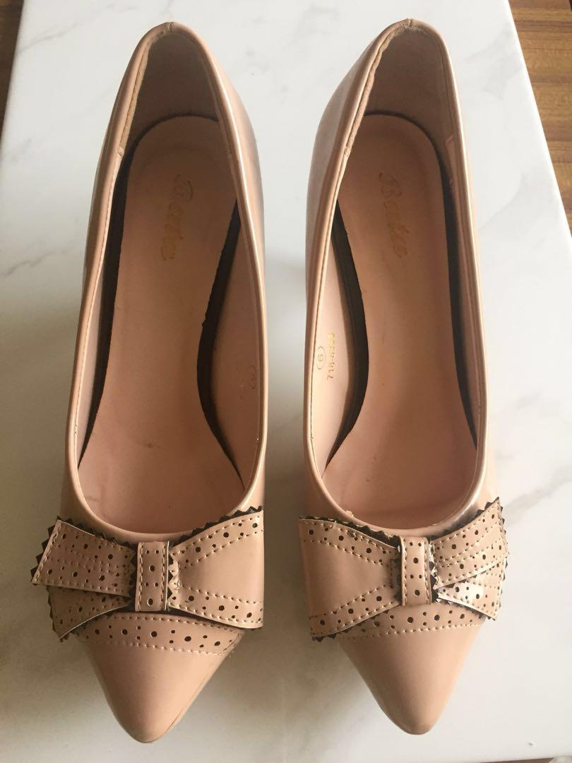 Blush Pink Patent Heels