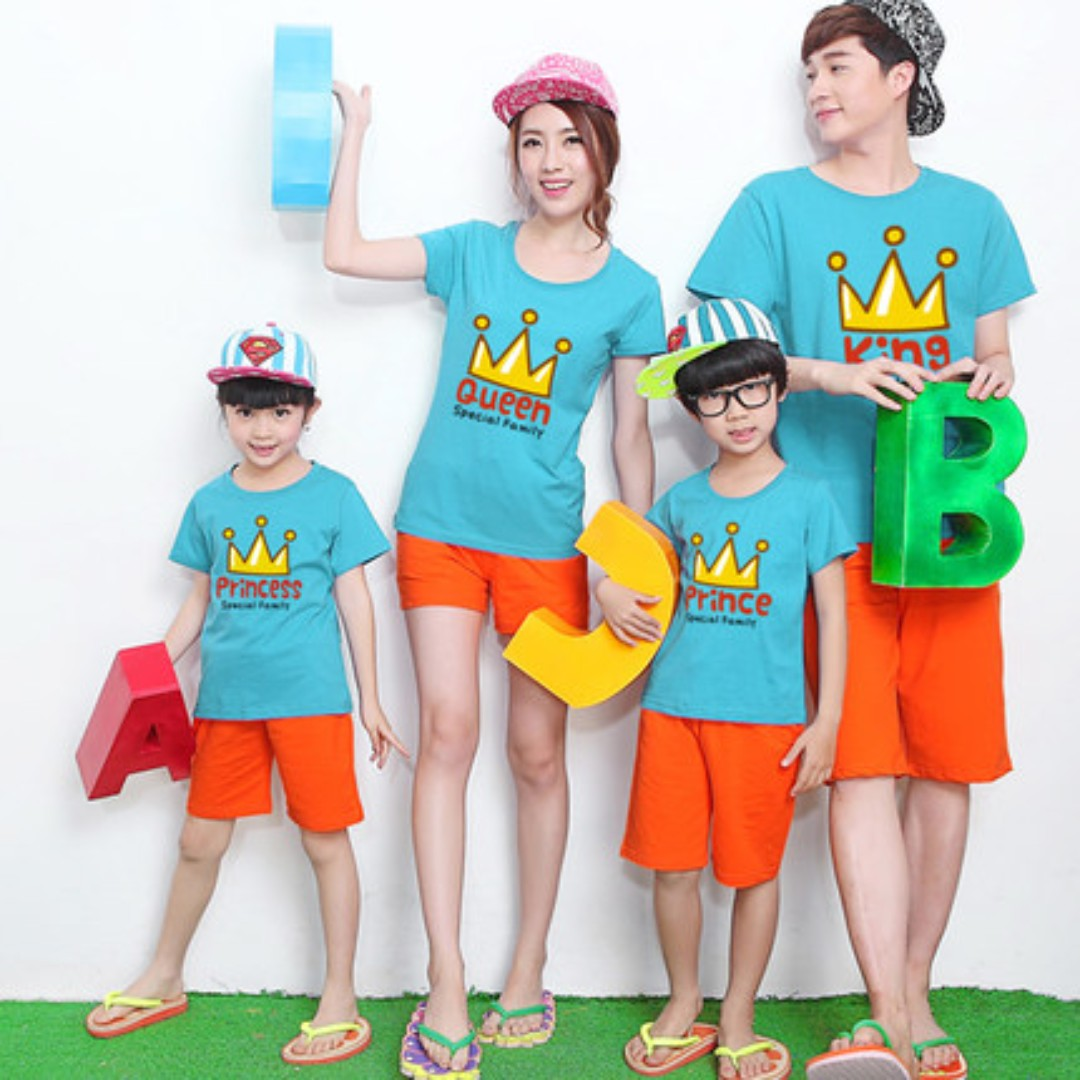 68c9d0f3ec Couple / Family Matching Wear Printed Tees / T-Shirts / Tops ...