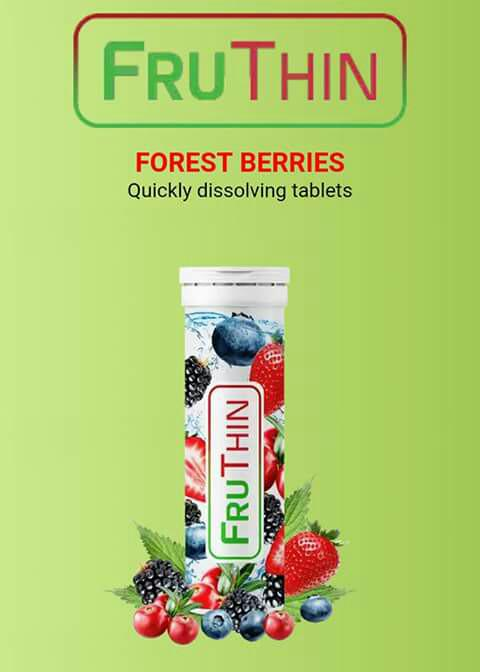 Fruthin Sparkling Tablets For Safe Natural Weight Loss Food