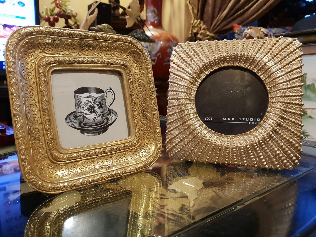 Max Studio Picture Frame Gold Classy Photo Frames Fr Azzure Homes