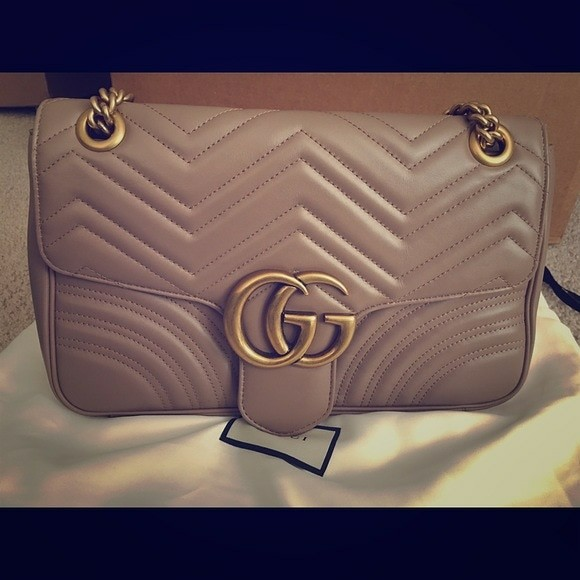 Gucci gg marmont medium nude authentic 8583bb70d9