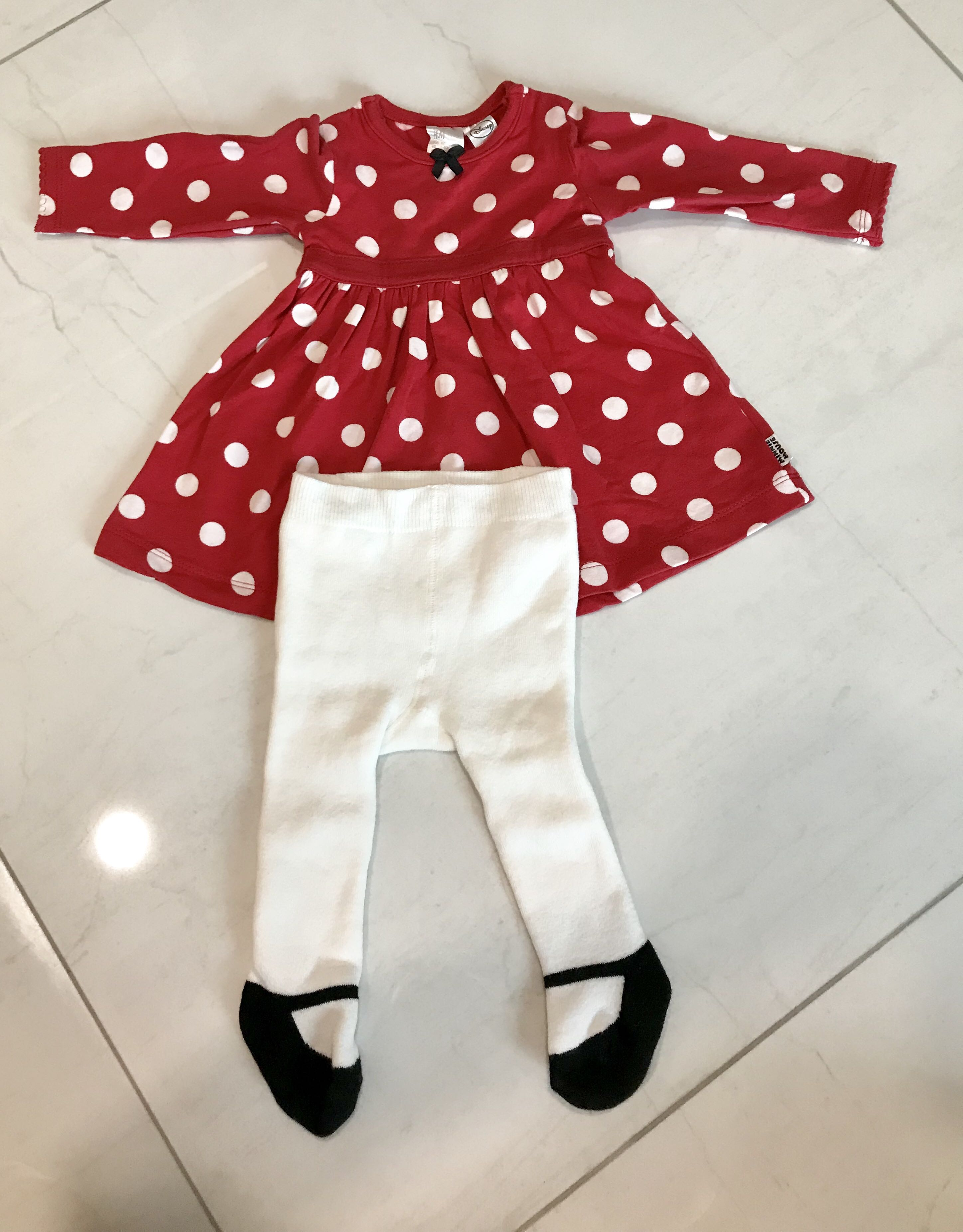818058ee0 H&M Top & Leggings Polka Dot Set, Babies & Kids, Babies Apparel on ...