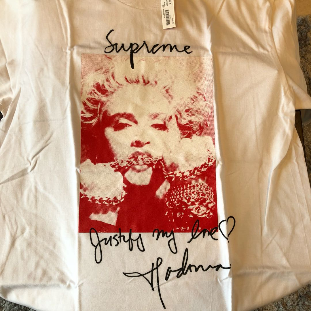 f2f11c619 Hot! 🔥DS Supreme Madonna Tee (White) Size M, Men's Fashion, Clothes ...