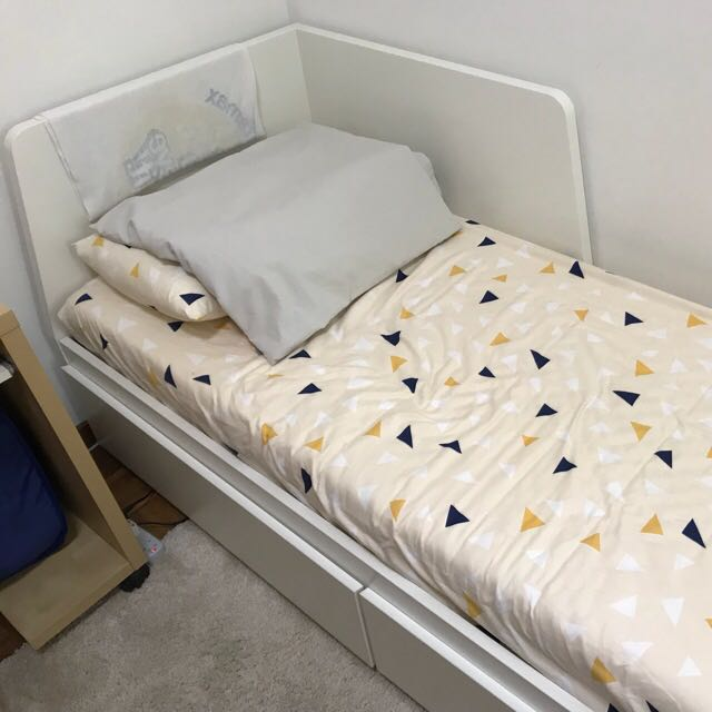ikea flekke day bed convert to doubled bed w storage furniture beds mattresses on carousell. Black Bedroom Furniture Sets. Home Design Ideas