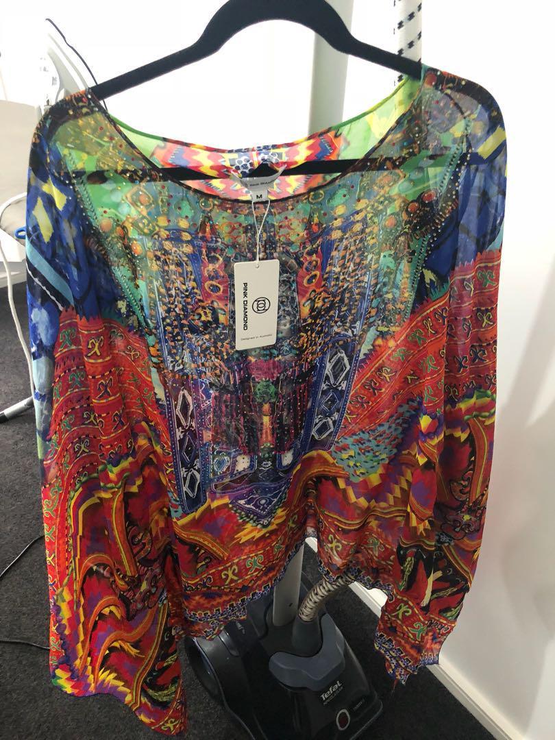Kaftan mini dress/top