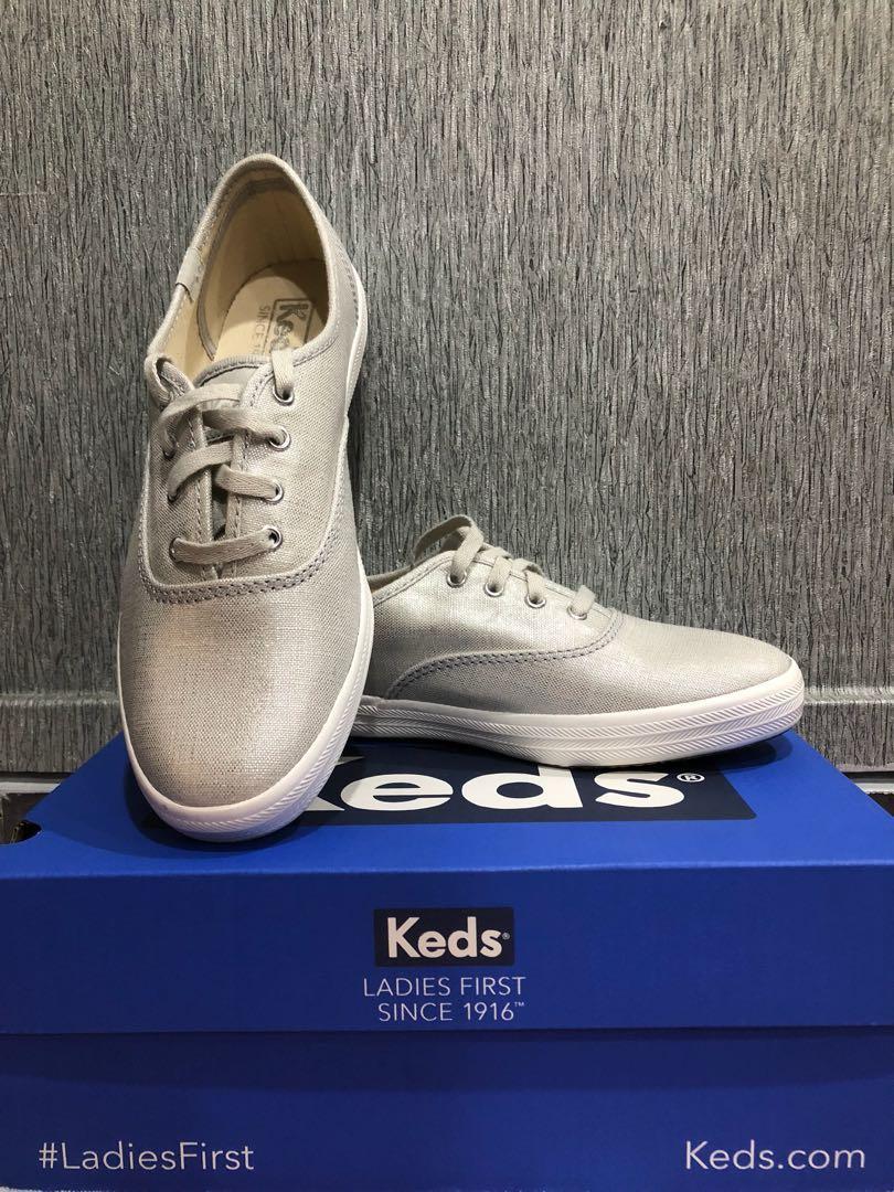 e7f22491254 Keds Champion Linen Silver
