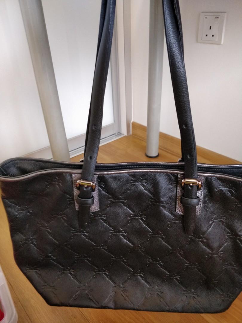 Longchamp LM Cuir Black Medium Leather Tote Shoulder Bag ea0ef27c6af42