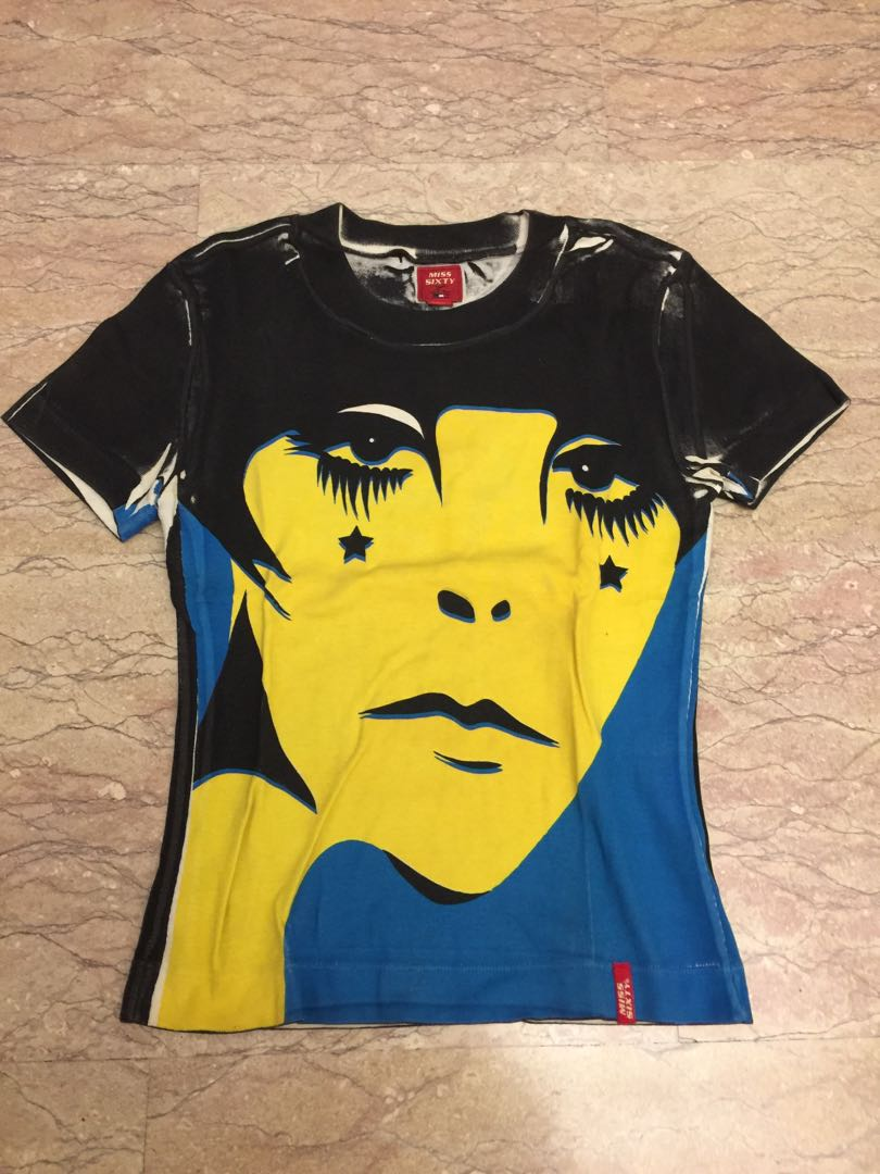 9f207438ecac9 Miss sixty designer top black yellow blue