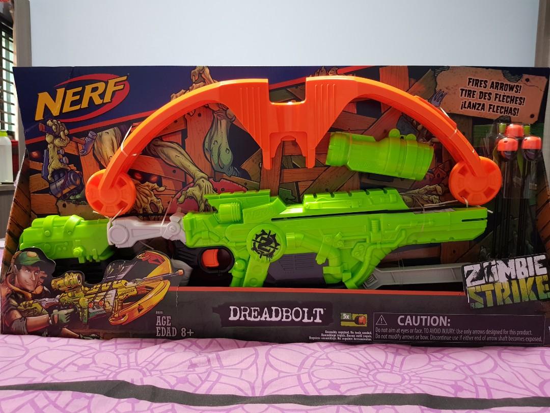 Toys & Hobbies Nerf Zombie Strike Dreadbolt Dart Guns & Soft Darts
