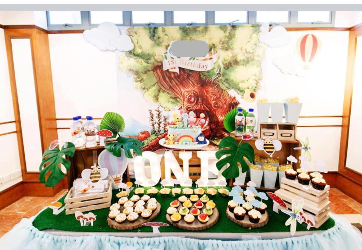 One Year Old Birthday Baby Shower Theme Decoration Dessert Table Design Craft Others On Carousell