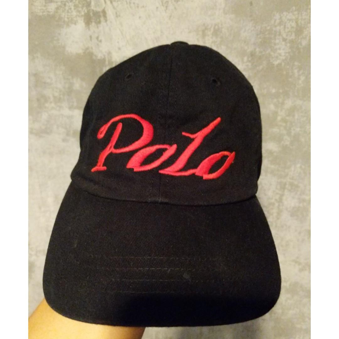 Black 90s Polo Ralph Lauren Cap 99cc64ba11e