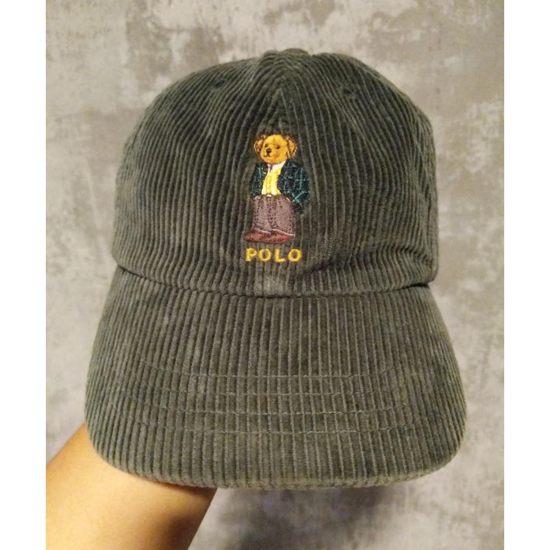 982b9d52 Corduroy Olive Green Polo Bear Ralph Lauren Cap, Men's Fashion ...