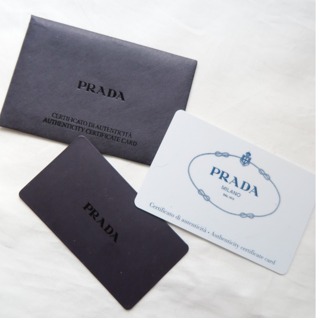 Prada Saffiano Leather Tessuto Cosmetic Bag Authenticity
